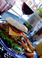La Santurrona Gastropub grilled vegetable sandwich