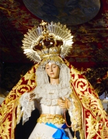 paso on advance display in a church in Sevilla